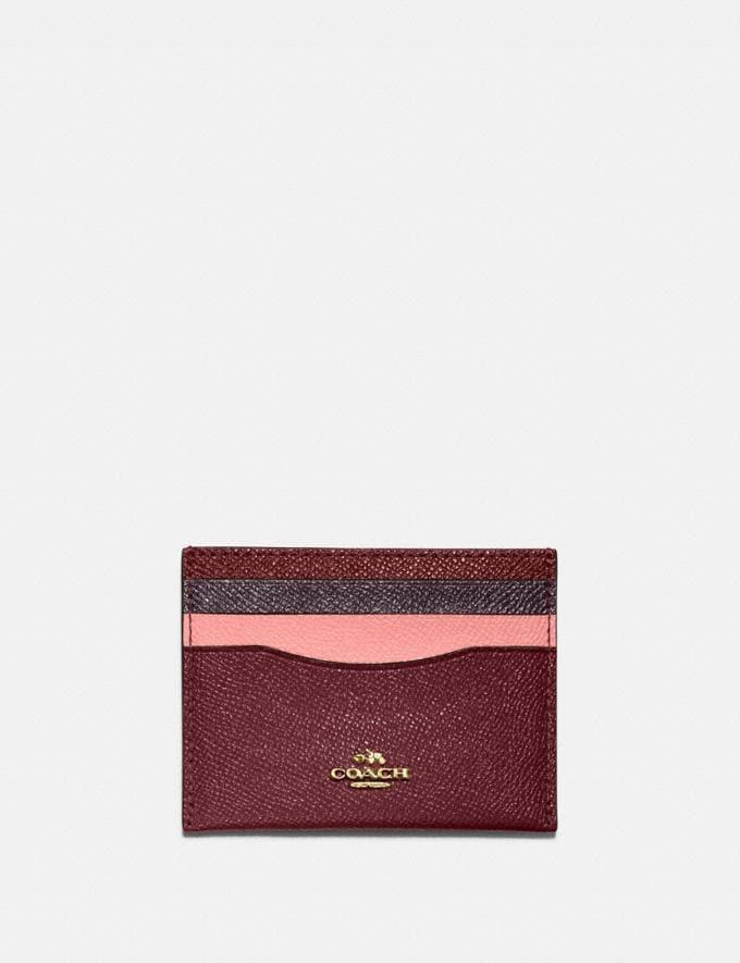 Coach Card Case in Colorblock B4/Wine Multi DEFAULT_CATEGORY