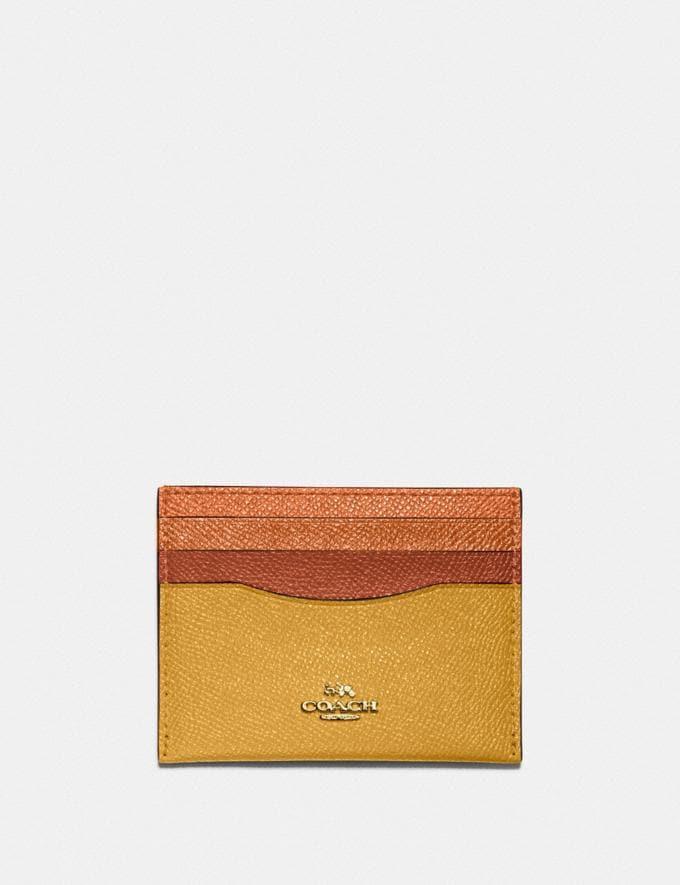 Coach Card Case in Colorblock B4/Buttercup Multi DEFAULT_CATEGORY