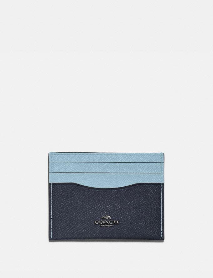Coach Card Case in Colorblock B4/Taupe Ginger Multi Women Small Leather Goods Card Cases