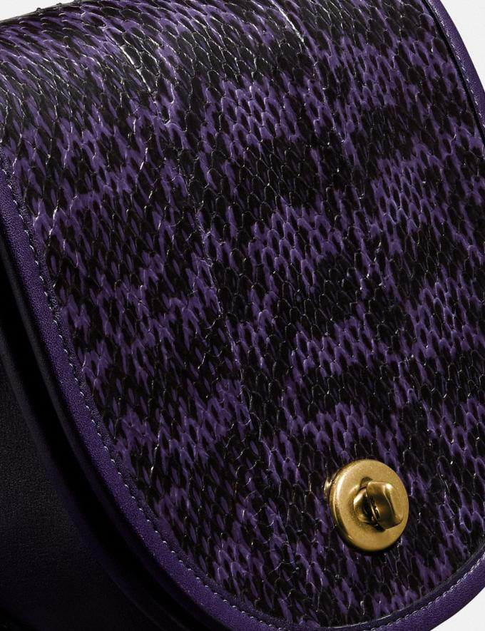 Coach Turnlock Saddle Crossbody in Snakeskin Brass/Royal Purple Gifts For Her Under $500 Alternate View 5