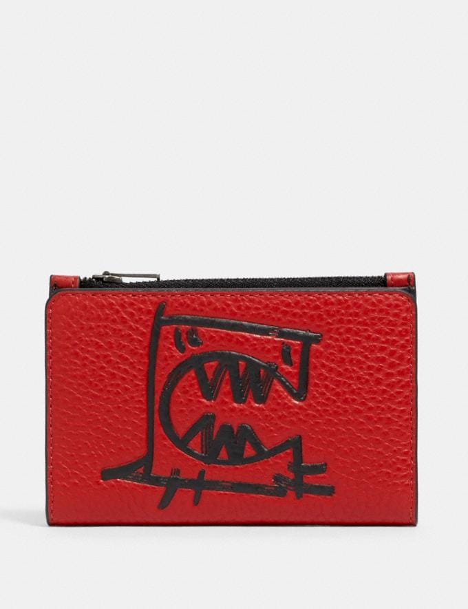 Coach Slim Bifold Card Wallet With Rexy by Guang Yu Qb/Crimson Black Deals Finds Under $100