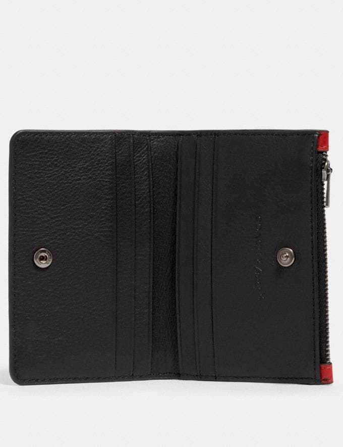 Coach Slim Bifold Card Wallet With Rexy by Guang Yu Qb/Crimson Black Deals Finds Under $100 Alternate View 1