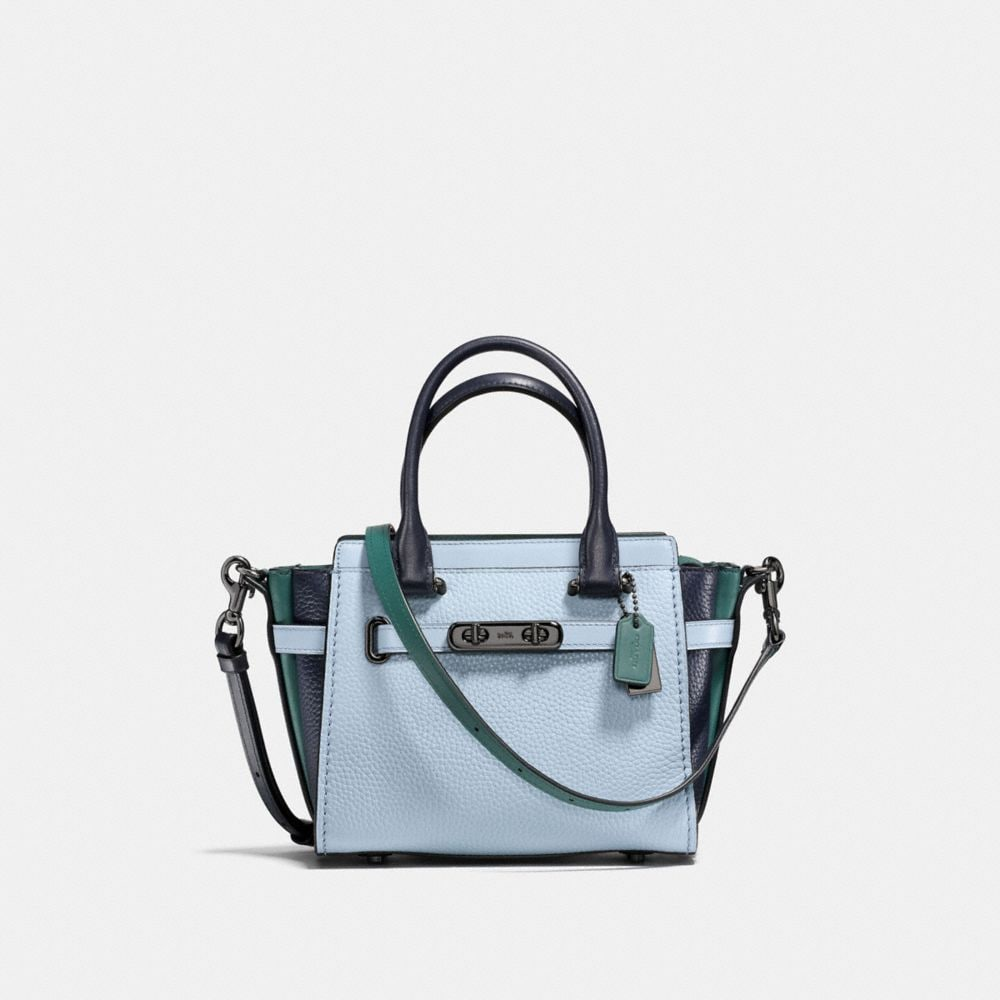 COACH SWAGGER 21 IN COLORBLOCK LEATHER
