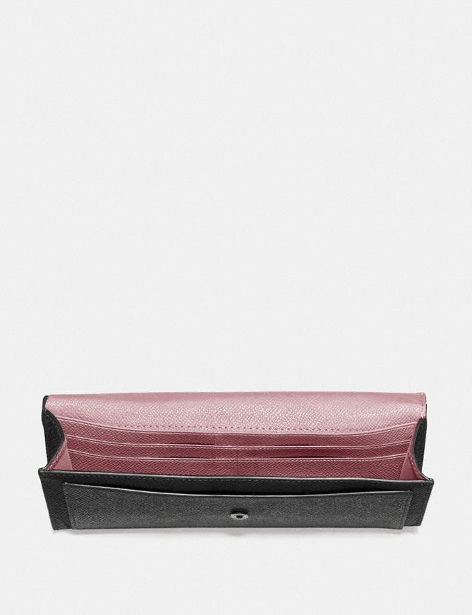 Coach Soft Wallet in Colorblock Black Multi/Gunmetal New Women's New Arrivals Wallets & Wristlets Alternate View 1