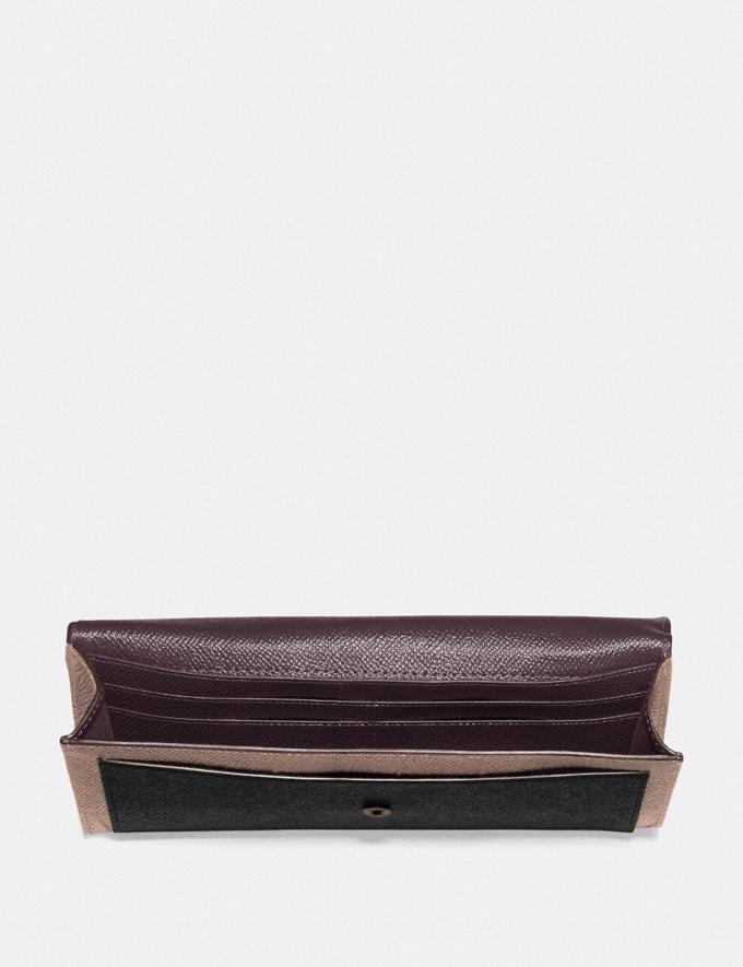 Coach Soft Wallet in Colorblock Pewter/Black Multi Women Wallets & Wristlets Alternate View 1
