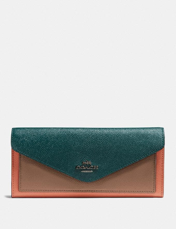Coach Cartera Suave Con Bloques De Color V5/Bosque Multicolor Regalo Para ella Menos de 250 €