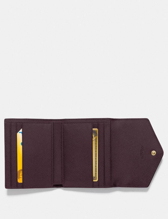 Coach Small Wallet in Colorblock B4/Taupe Ginger Multi Women Small Leather Goods Small Wallets Alternate View 1