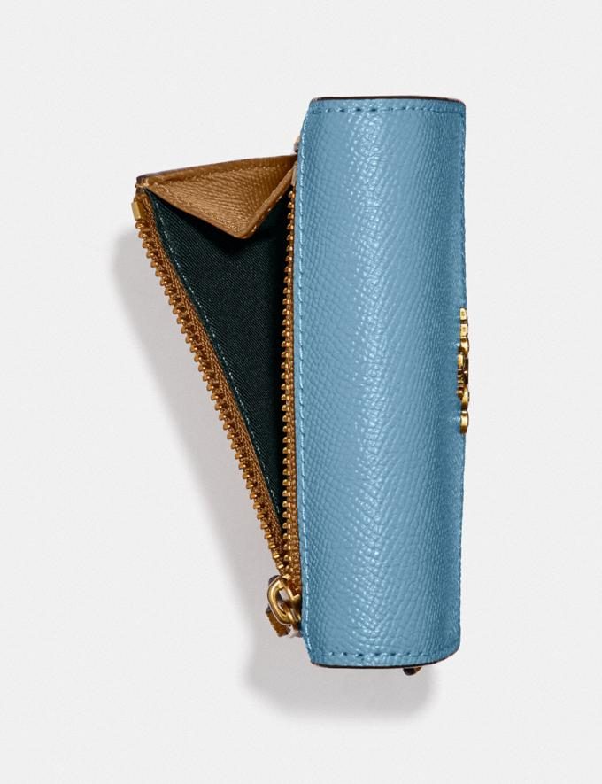 Coach Small Wallet in Colorblock Brass/Pacific Blue Multi Gifts For Her Under $100 Alternate View 2