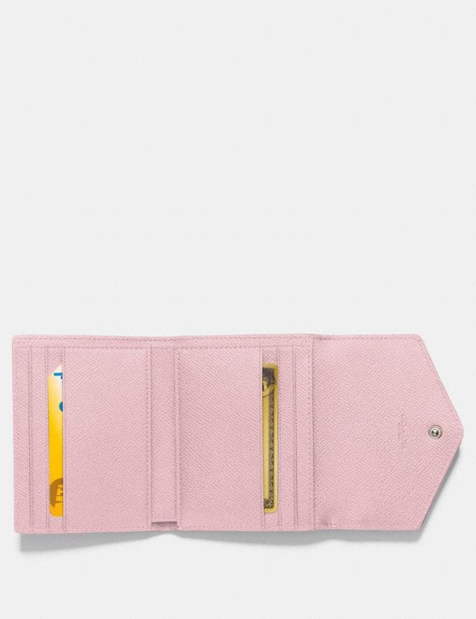 Coach Small Wallet in Colorblock Light Blush Multi/Silver New Women's New Arrivals Small Leather Goods Alternate View 1