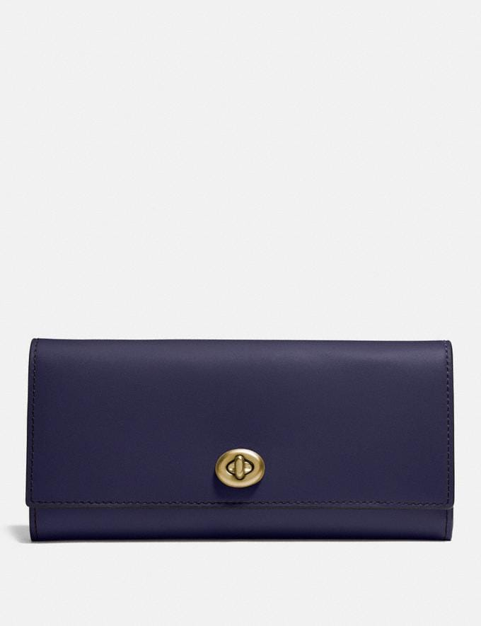 Coach Envelope Wallet Cadet/Brass Personalise For Her Wallets