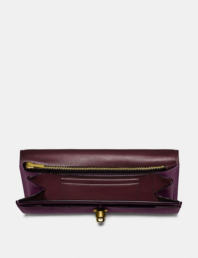 Coach Envelope Wallet Plum/Brass Personalise For Her Wallets Alternate View 1