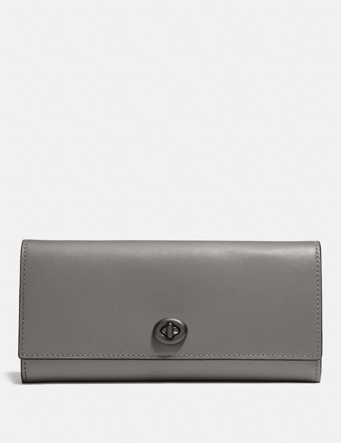 Coach Envelope Wallet Heather Grey/Black Copper 30% off Select Full-Price Styles