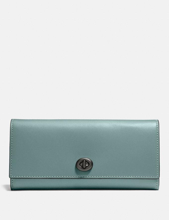 Coach Envelope Wallet Sage/Pewter Gifts For Her Bestsellers