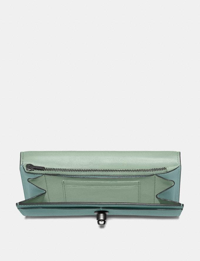 Coach Envelope Wallet Sage/Pewter Gifts For Her Alternate View 1