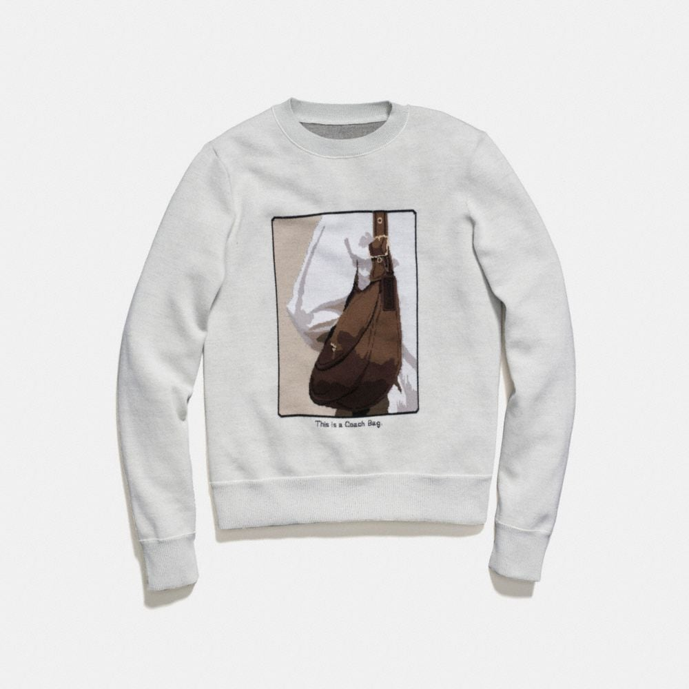 Coach Crewneck With Archive Intarsia Alternate View 1