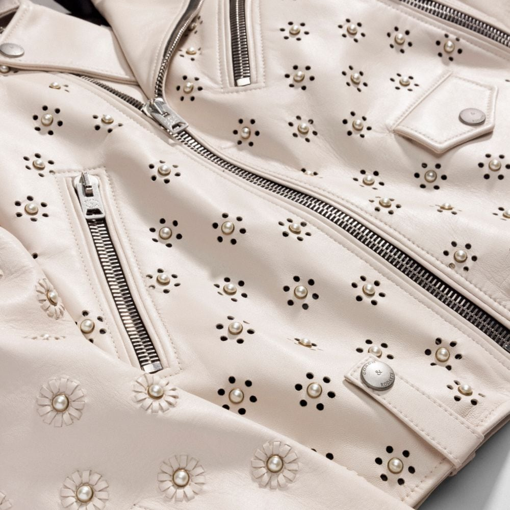 Moto Jacket With Whipstich Eyelet - Alternate View A2