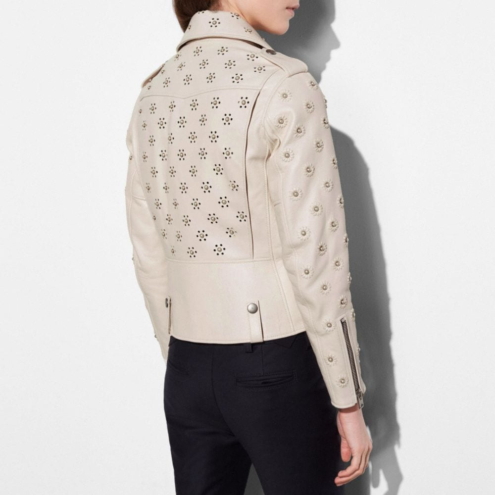 Moto Jacket With Whipstich Eyelet - Alternate View M