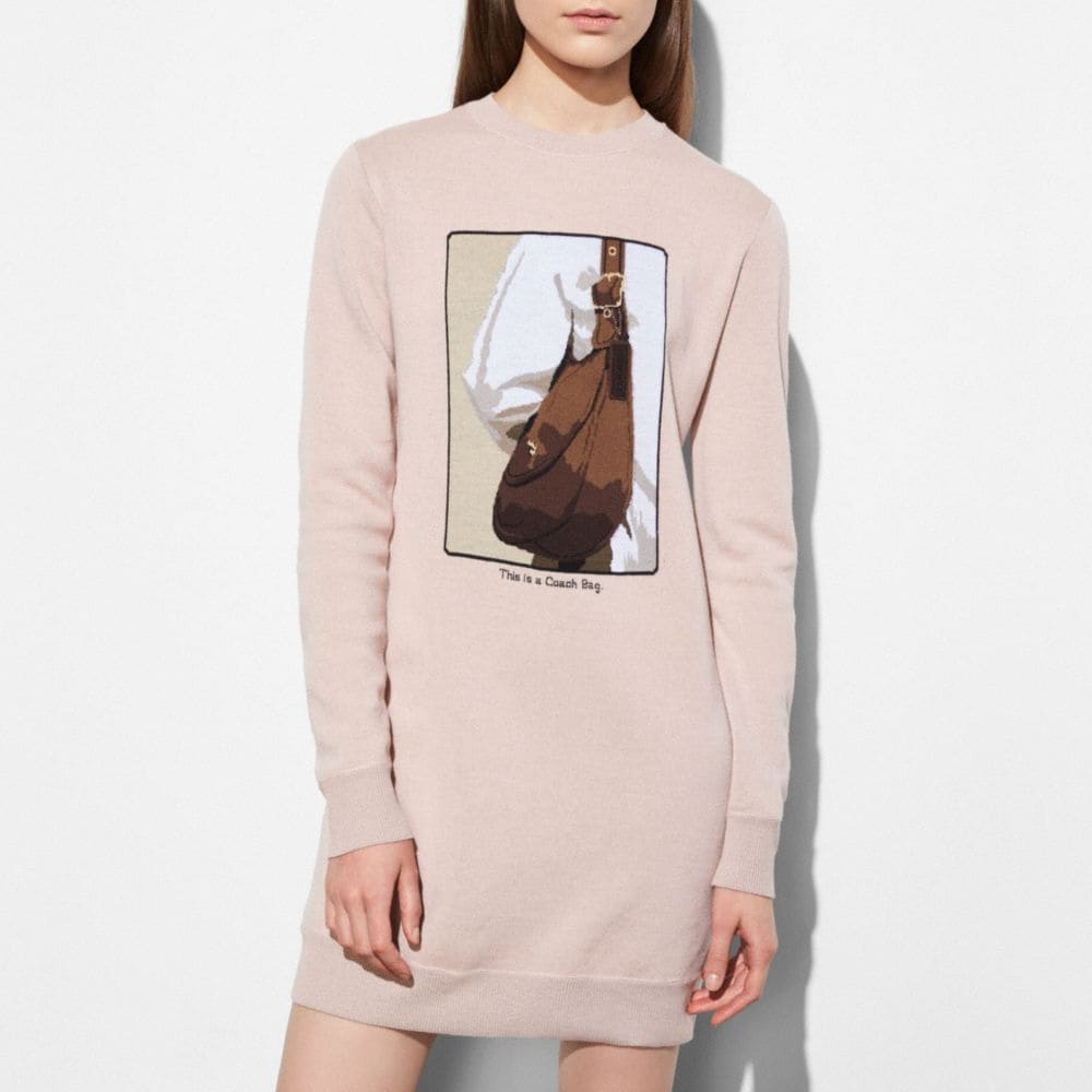 Coach Sweater Dress With Archive Intarsia Coach