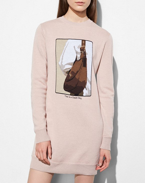 Coach Sweater Dress With Archive Intarsia Coach Free Shipping Store Sale Pre Order Footlocker Online Discount View MYm5t