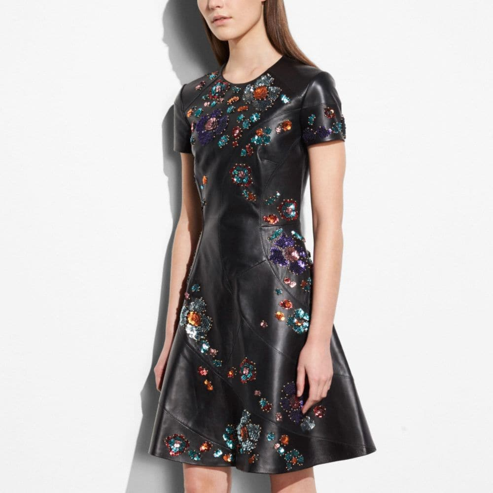 Coach Circle Dress With Leather Sequins