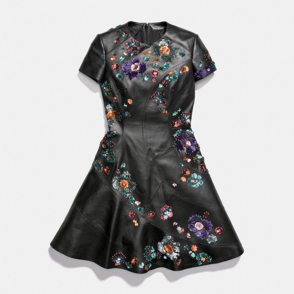 Coach Circle Dress With Leather Sequins Alternate View 1