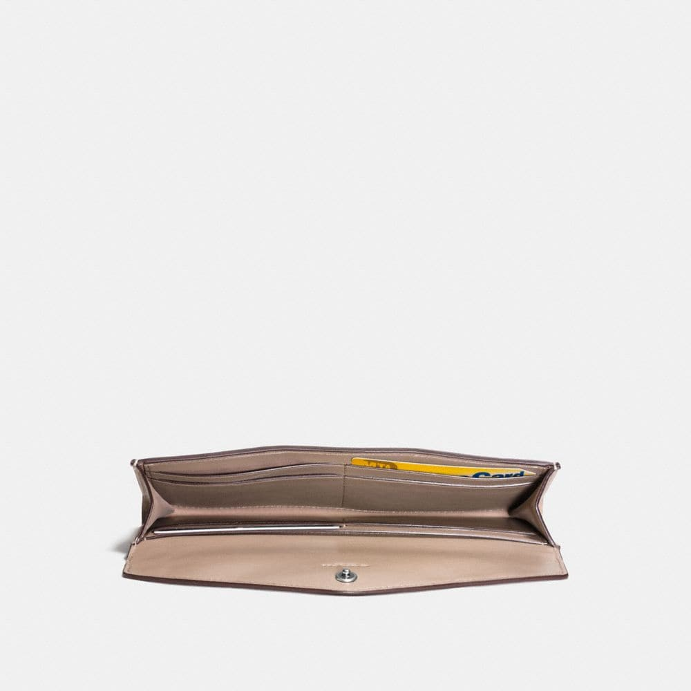 Coach Soft Wallet With Painted Tea Rose Tooling Alternate View 1