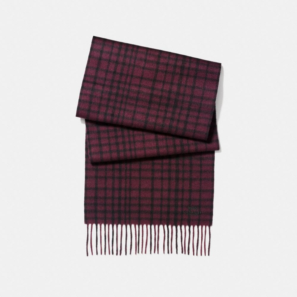 Coach Wild Plaid Scarf