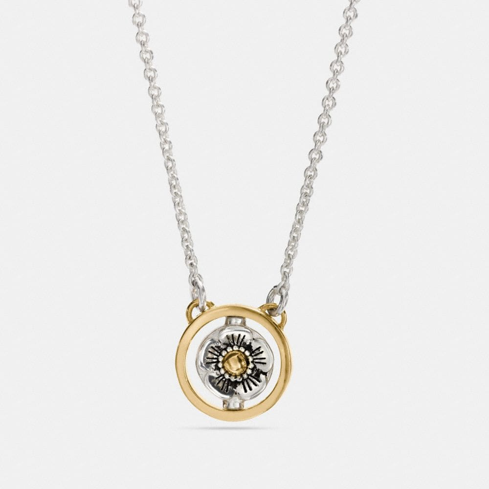 Coach Spinning Willow Floral Signature Necklace