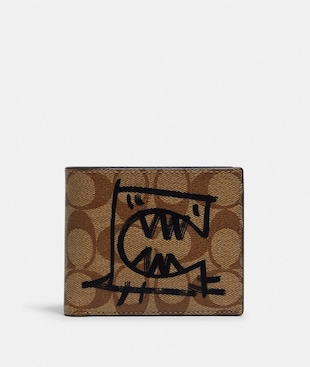 3-IN-1 WALLET IN SIGNATURE CANVAS WITH REXY BY GUANG YU