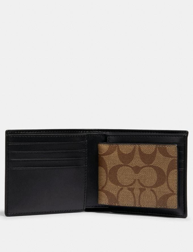 Coach 3-In-1 Wallet in Signature Canvas With Rexy by Guang Yu Qb/Tan Black  Alternate View 1