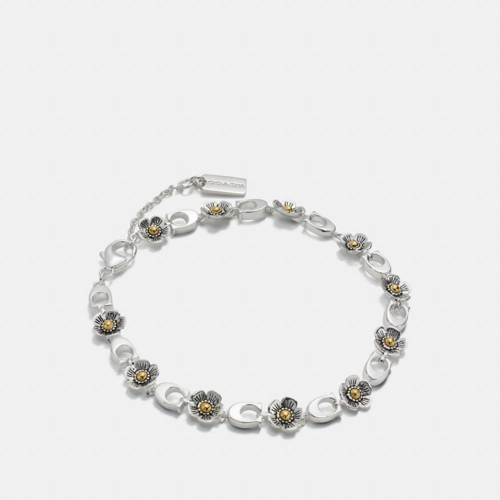 sterling silver tea rose bracelet