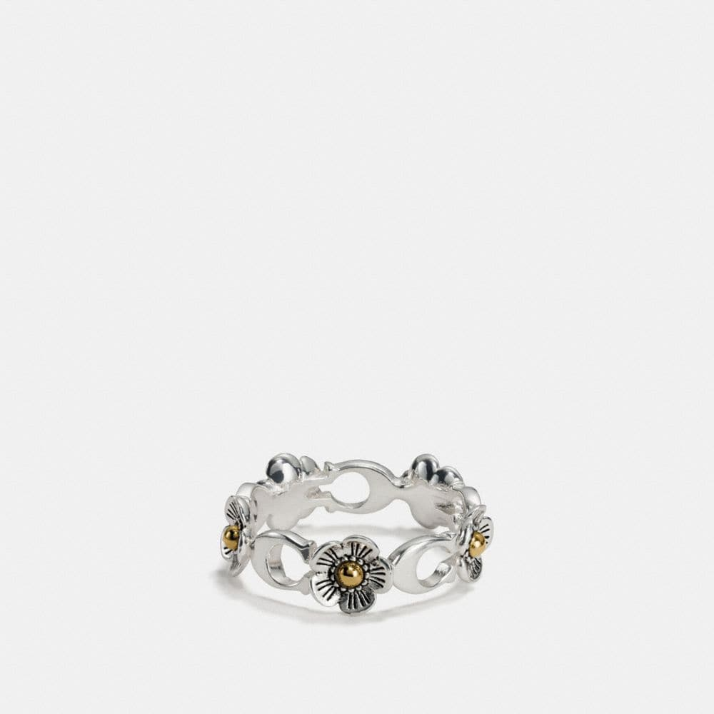 STERLING SILVER DITSY WILLOW FLORAL RING