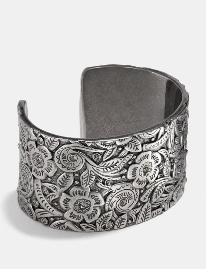 Coach Tooled Open Cuff Silver