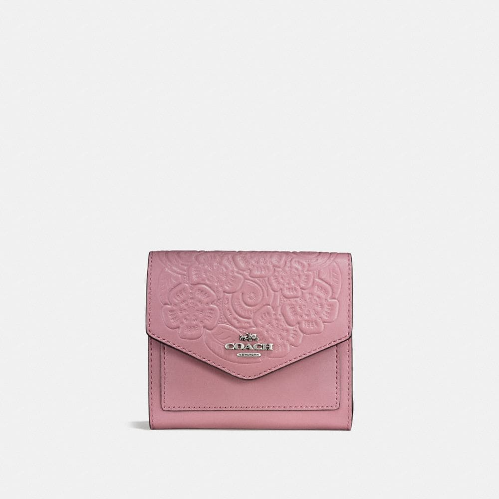 SMALL WALLET WITH TEA ROSE TOOLING