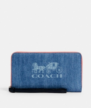 JES LARGE PHONE WALLET WITH HORSE AND CARRIAGE