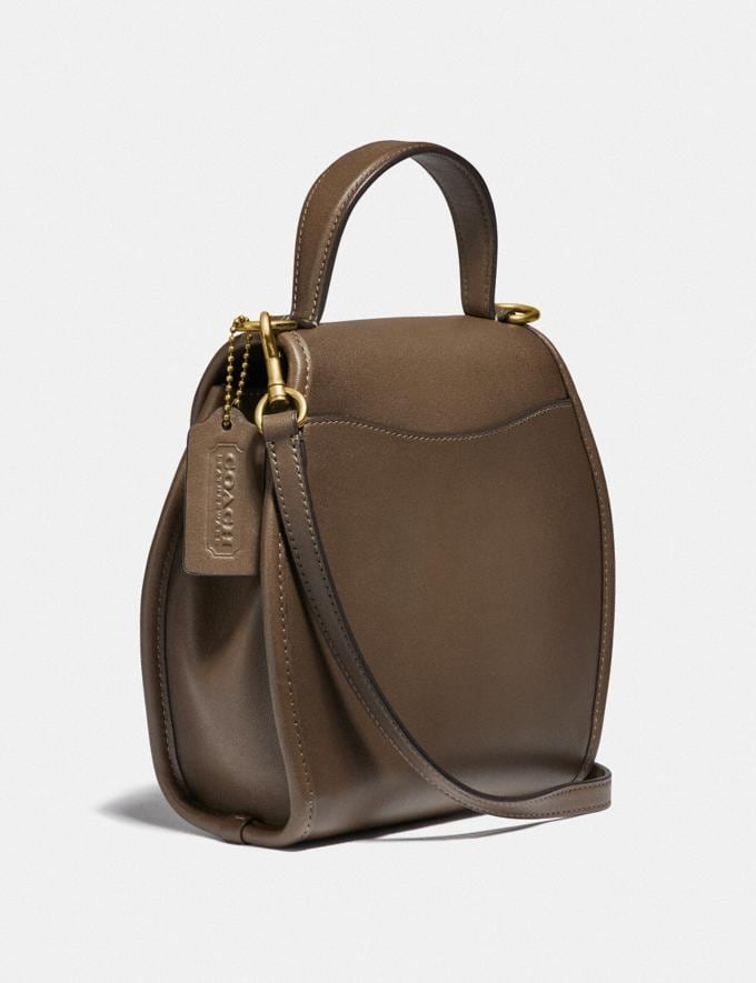 Coach Turnlock Curved Top Handle Crossbody Brass/Faded Hickory Women Handbags Satchels & Top Handles Alternate View 1