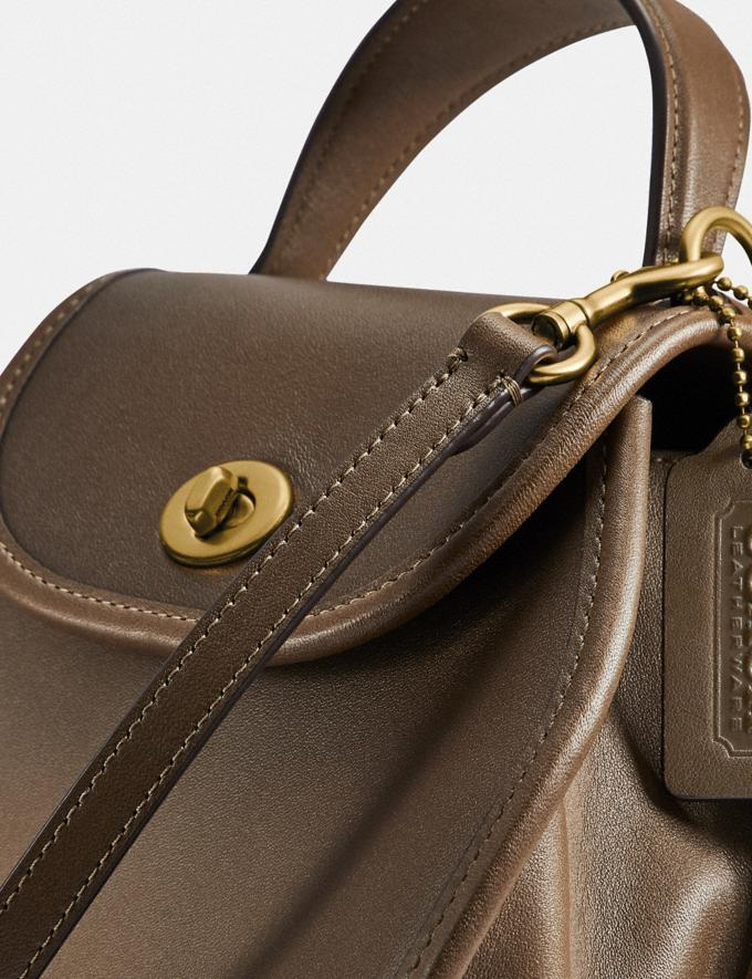 Coach Turnlock Curved Top Handle Crossbody Brass/Faded Hickory Women Handbags Satchels & Top Handles Alternate View 4