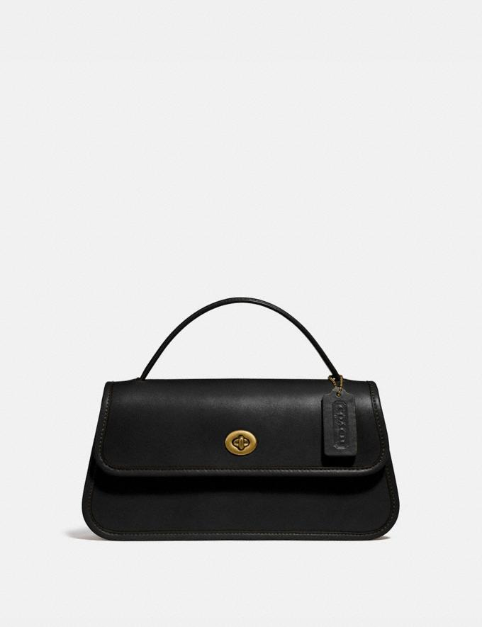 Coach Turnlock Clutch B4/Black New Women's New Arrivals