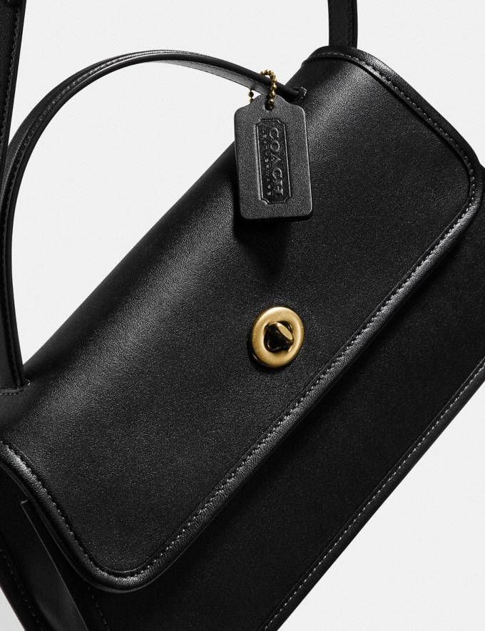 Coach Turnlock Clutch B4/Black New Women's New Arrivals Alternate View 4