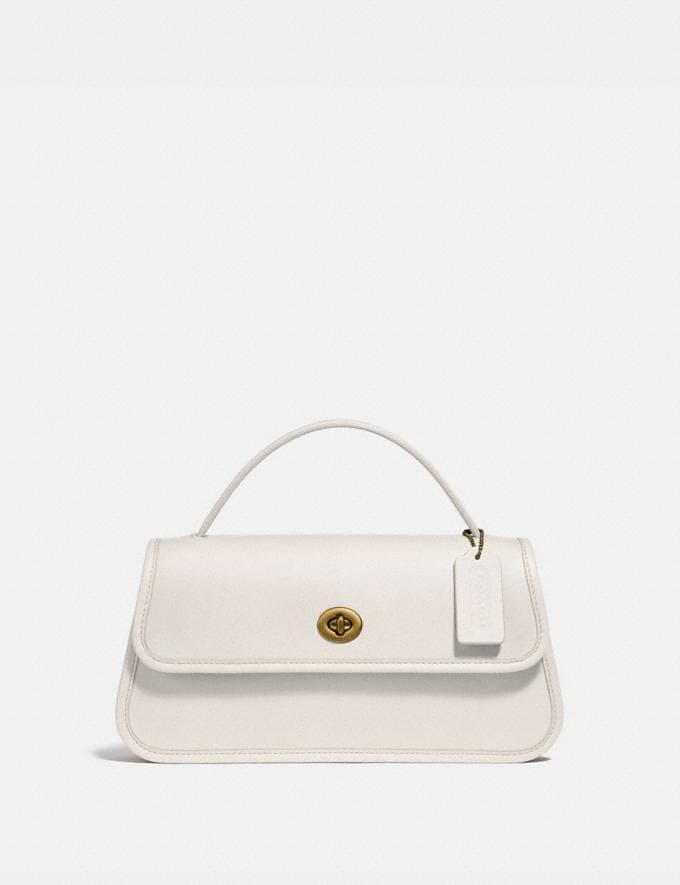 Coach Turnlock Clutch B4/Chalk New Women's New Arrivals Collection