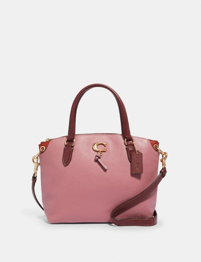 Coach Remi Satchel Im/Rose/Wine Women Bags