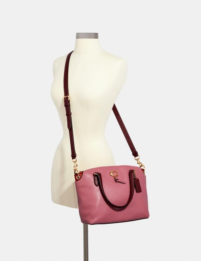 Coach Remi Satchel Im/Rose/Wine Women Bags Alternate View 3