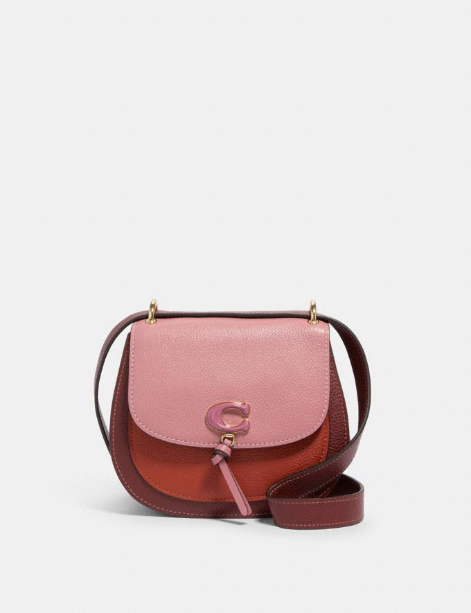 Coach Remi Saddle Bag in Colorblock Im/Rose Multi What's New Remi Collection
