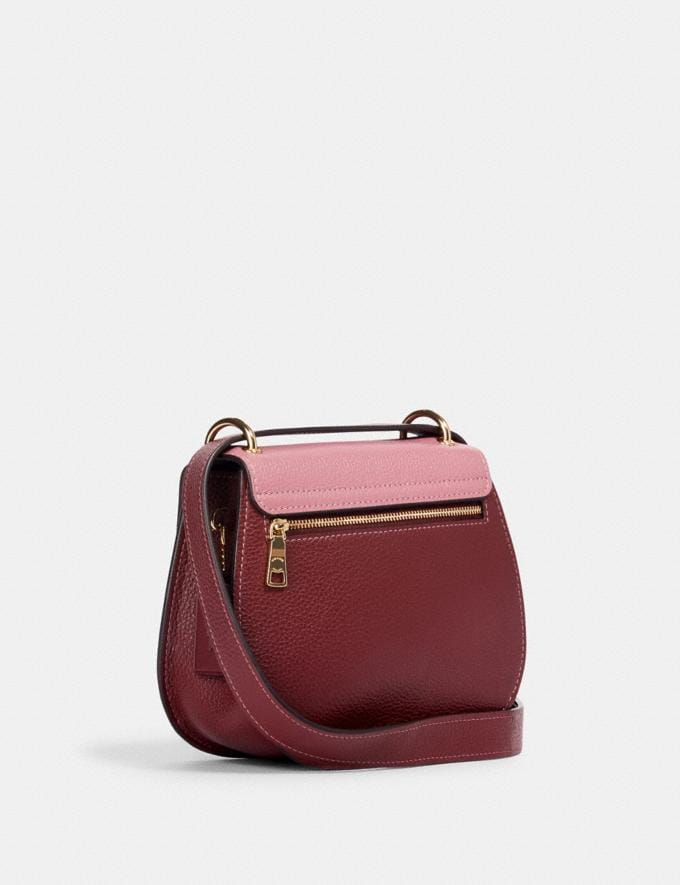 Coach Remi Saddle Bag in Colorblock Im/Rose Multi What's New Remi Collection Alternate View 1