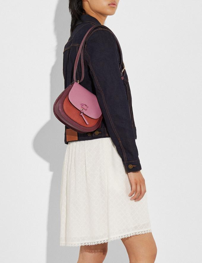 Coach Remi Saddle Bag in Colorblock Im/Rose Multi What's New Remi Collection Alternate View 4