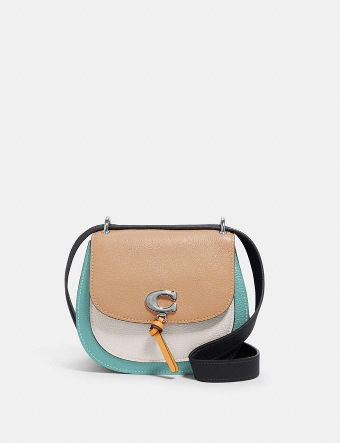 Coach Remi Saddle Bag in Colorblock Sv/Taupe Multi What's New Remi Collection