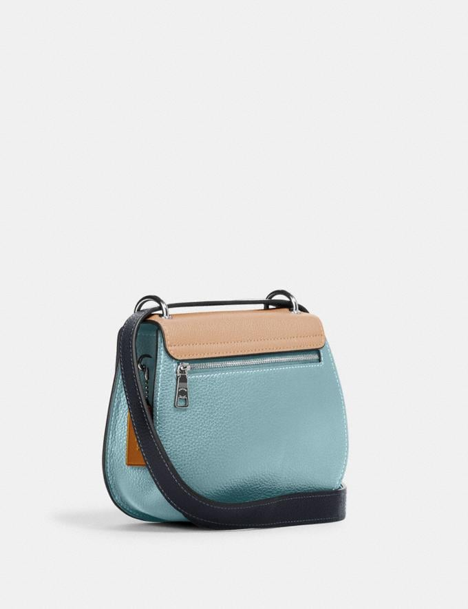 Coach Remi Saddle Bag in Colorblock Sv/Taupe Multi What's New Remi Collection Alternate View 1