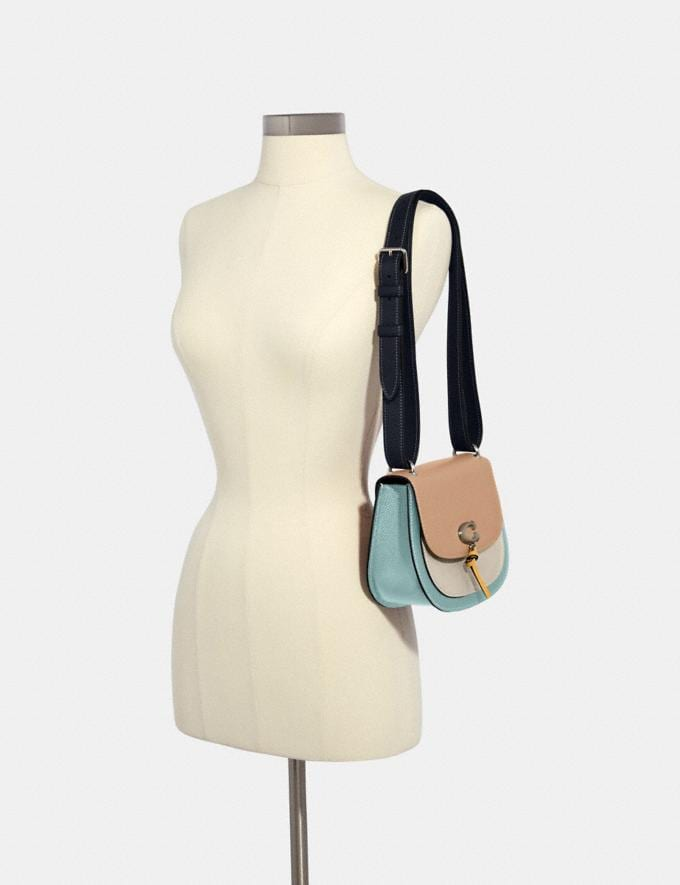 Coach Remi Saddle Bag in Colorblock Sv/Taupe Multi What's New Remi Collection Alternate View 4