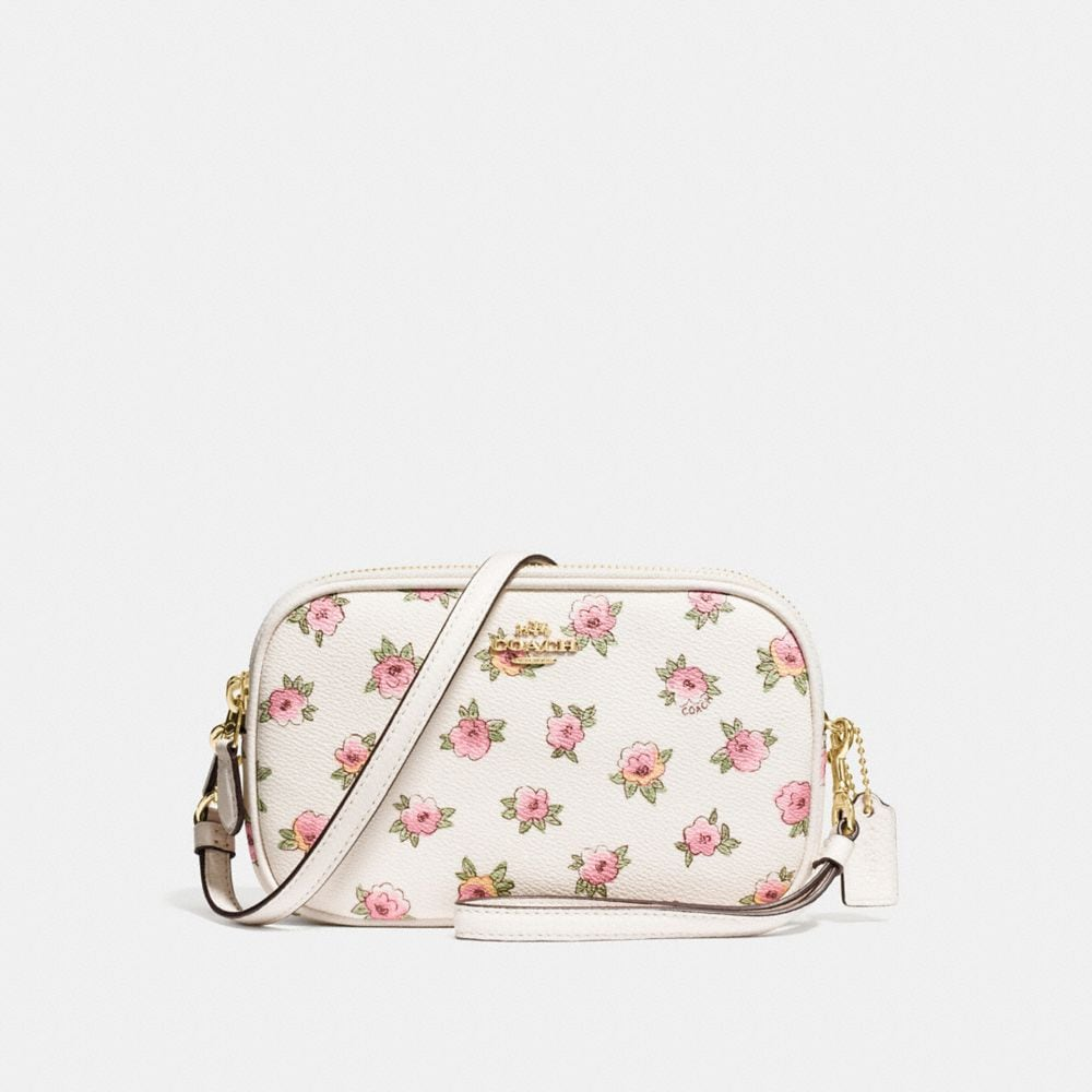 CROSSBODY CLUTCH IN FLOWER PATCH PRINT COATED CANVAS