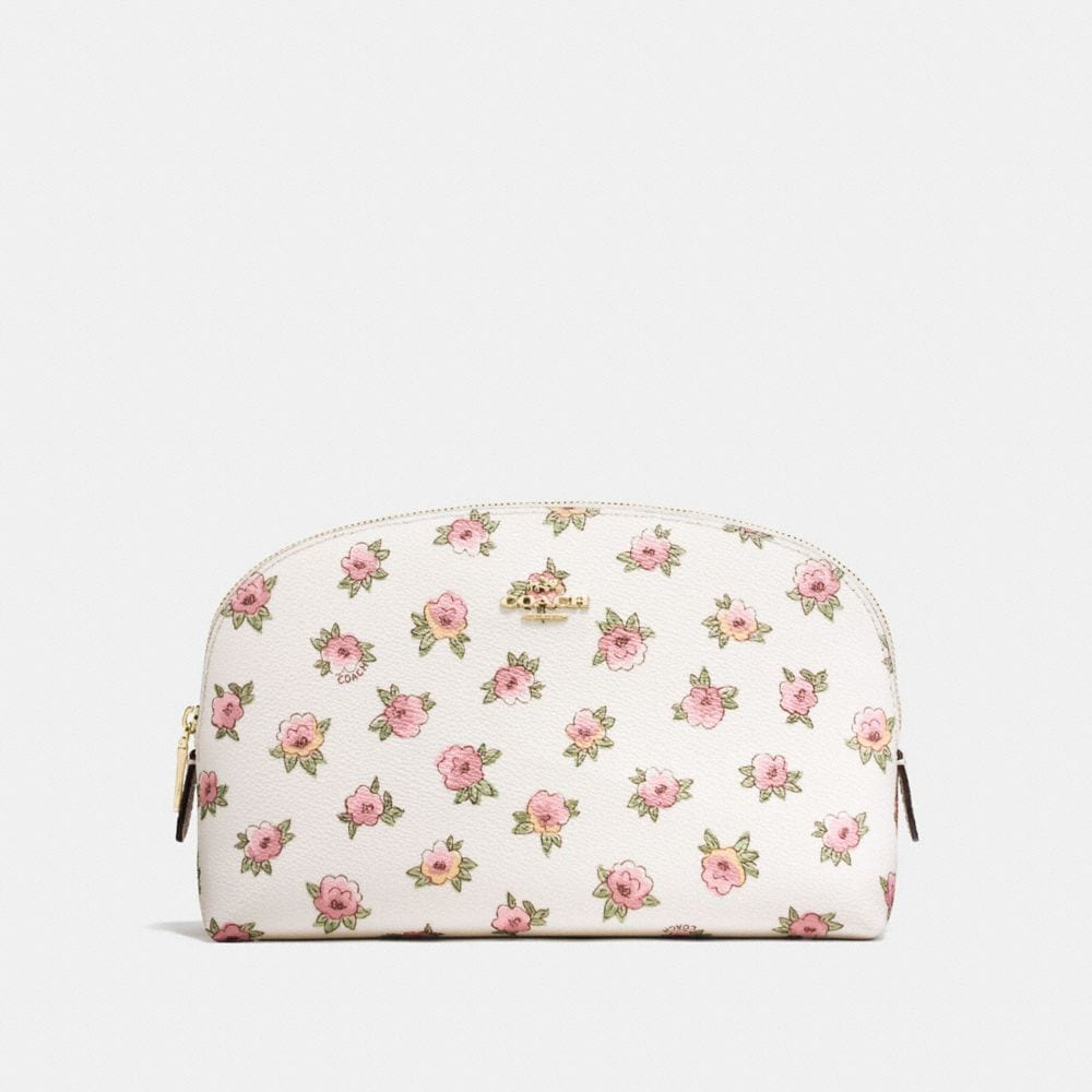 COSMETIC CASE 22 IN FLOWER PATCH PRINT COATED CANVAS